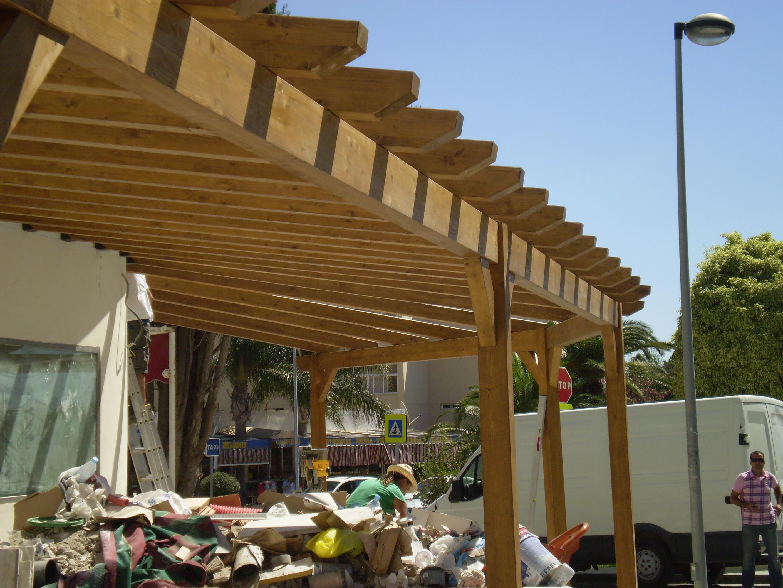 Terrazas cubiertas estructuras de madera dlc - Cubiertas de terrazas ...