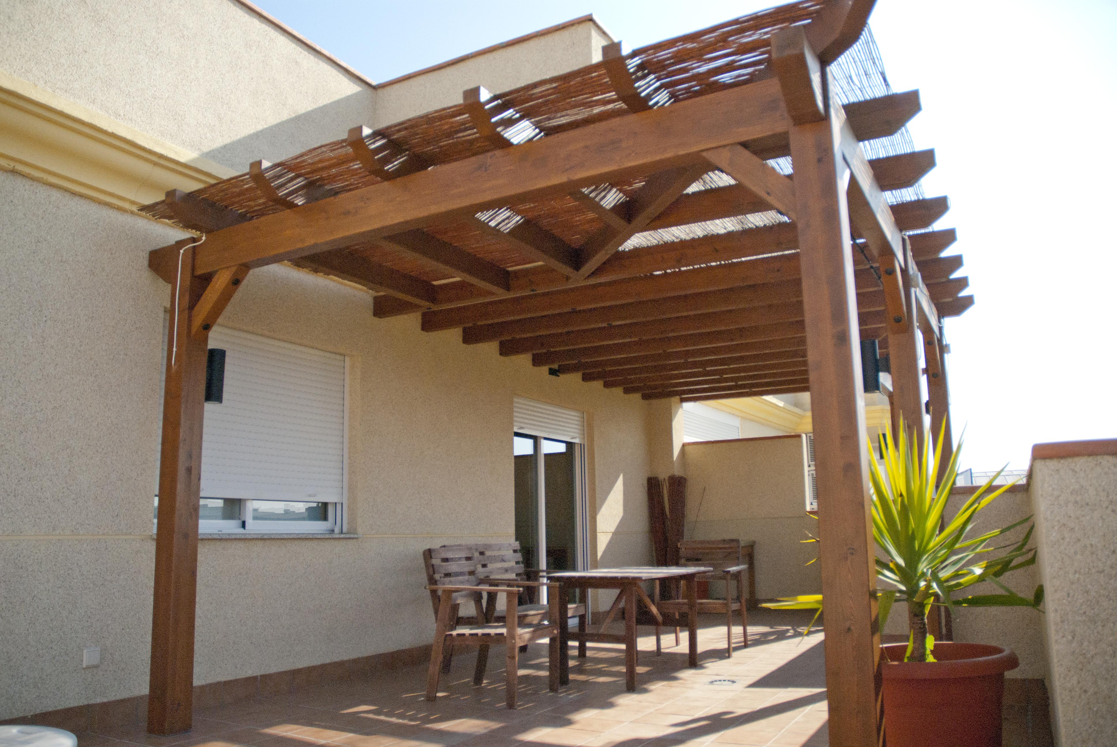 Pergolas De Madera Instaladas En Terrazas Estructuras De Madera Dlc - Pergolas-en-terrazas